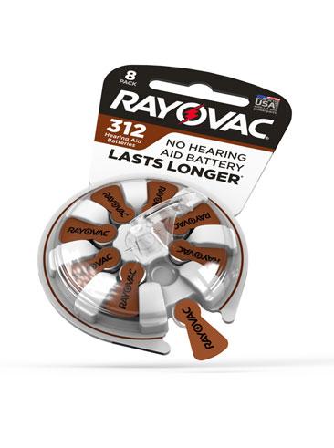 Rayovac 312 hearing aid battery