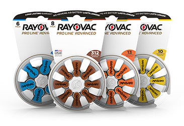 Rayovac innovative hearing aid battery packaging
