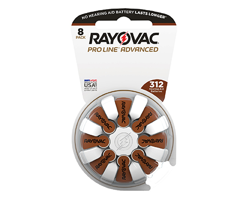 Rayovac Pro Line Advanced hearing aid battery with ActiveCore