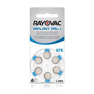 Rayovac Proline 6-pack 675 hearing aid batteries