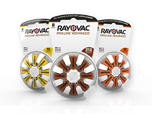 3 Rayovac Pro Line Advanced hearing aid batteries banner images