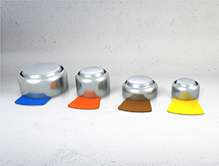 4 sizes of Rayovac Industrial hearing aid batteries